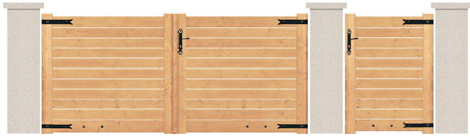 PORTE PIVOTANTE - Sapin - 01. Porte et portillon GALET