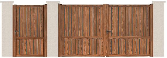 GAMME ASPECT BOIS - Porte et portillon GALLERY