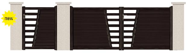 GAMME ASPECT BOIS - Porte et portillon PATTY