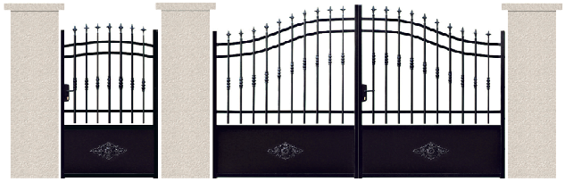 PORTE PIVOTANTE - 01. Porte et portillon DE VIGNY