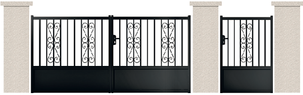 PORTE PIVOTANTE - 02. Porte et portillon CAJOU