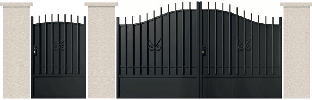 PORTE PIVOTANTE - 03. Porte et portillon VOLTAIRE