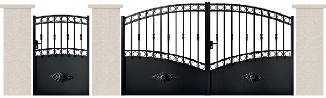 PORTE PIVOTANTE - 08. Porte et portillon MALHERBE
