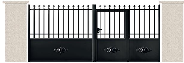 PORTE PIVOTANTE - 10. Porte avec Portillon IncorporŽ SOREL