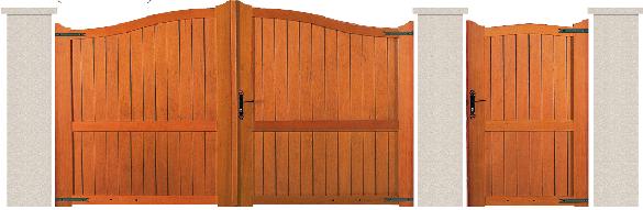 PORTE PIVOTANTE - Garapa - 03. Porte et portillon NICE