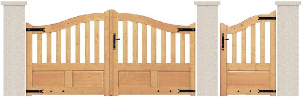 PORTE PIVOTANTE - Sapin - 03. Porte et portillon RUBIS